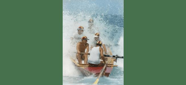 P27219 - Bulli surf boat crew, 1993