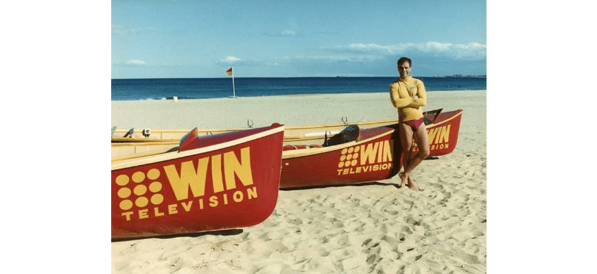 P27223 - Robbie Meijer and Bulli surf boats, 1993