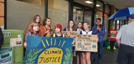 Student Climate Change Action march