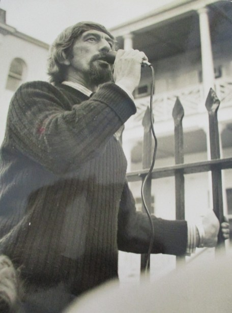 Dave Beswick outside NSW Parliament House - 1970s
