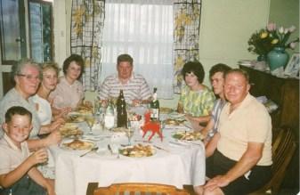 Christmas Day 1962 - Left to right: Peter, Gladys, Barbara, Lina, John, Lorna, Barry, James