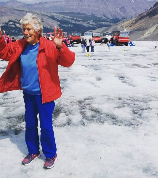 Carol North in the Rocky Mountains - Canada, 2018