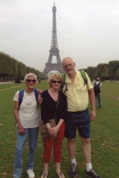 Carol North in Paris with her son Stewart his wife Penny