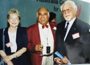 Vic (right) at an award ceremony