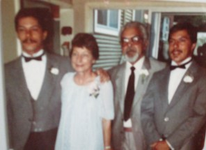 Vic and Ruth with their sons Murray and John