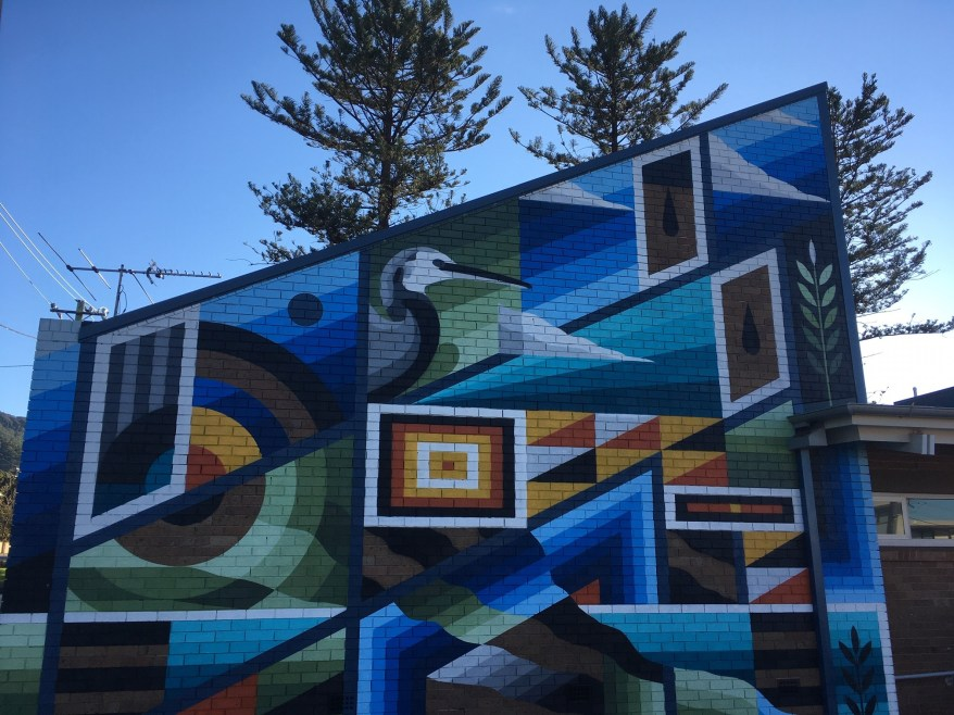 The Coledale Community Centre Mural viewed from Northcote Street