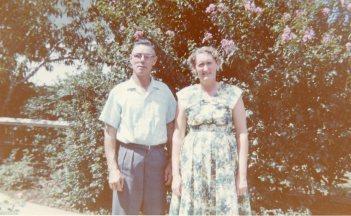 Barbara's parents Johanna and Harry Thomson - circa.1960-1961
