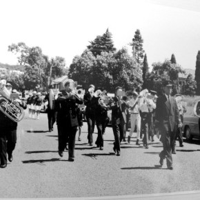 1969 - Helensburgh Town Band Street Parade opening of town's swimming pool