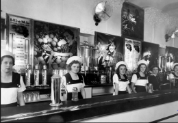 Black & White Fruit Milk Bar, Crown & Kiera Street, 1937 - Photo courtesy of L. Keldoulis, from the In Their Own Image Greek-Australians National Project