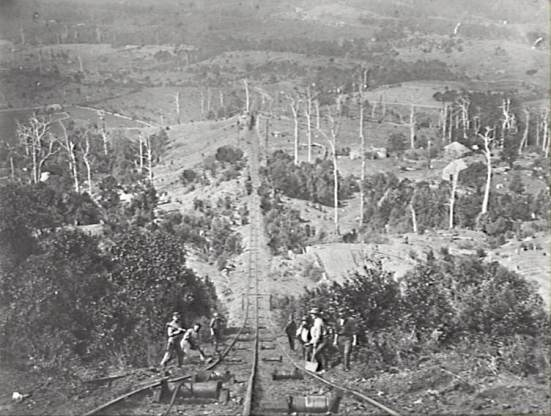 P02224 - Mount Keira Colliery Tramway c.1880.