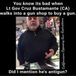 CA Lt gov Cruz Bustamante Busted Buying a gun?