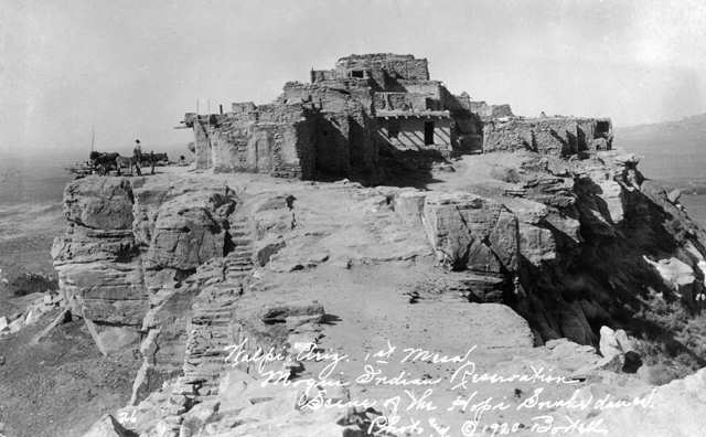 The Hopi village of Walpi, on top of the First Mesa on the Hopi Reservation