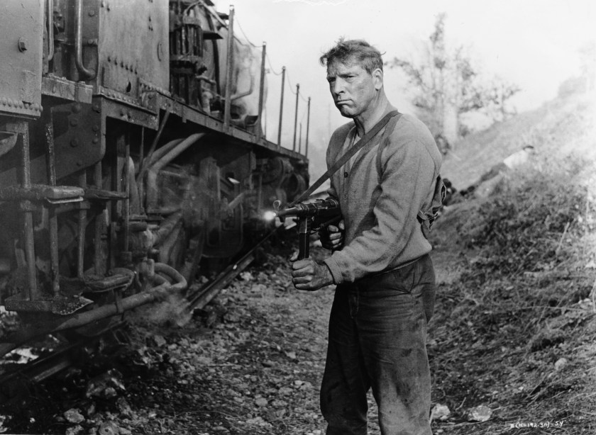 Burt Lancaster as French Resistance fighter Labiche in The Train