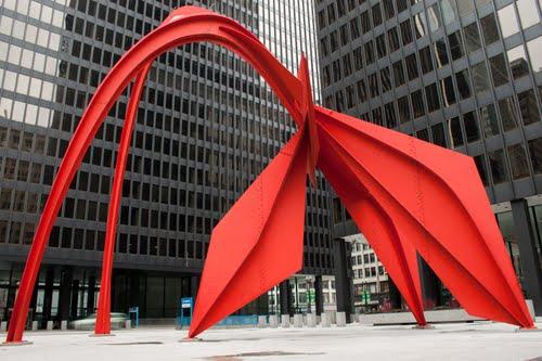 Alexander Calder's 'Flamingo'