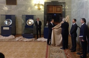 The Unveiling of the treasures in Hungary on Wednesday