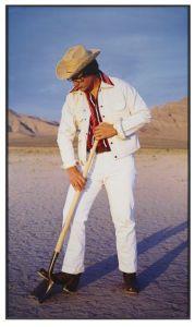 Tony Tasset Robert Smithson (Las Vegas), 1995 Silver dye-bleach print 83 x 49 x 3 in. (210.8 x 124.5 x 7.6 cm) Collection Museum of Contemporary Art Chicago