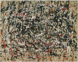 A work once exhibited as a Jackson Pollock