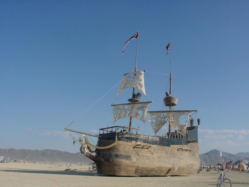 "The Burning Man installation, ""La Contessa"""