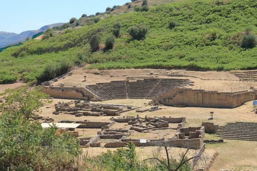 A view of the theater and agora at Morgantina