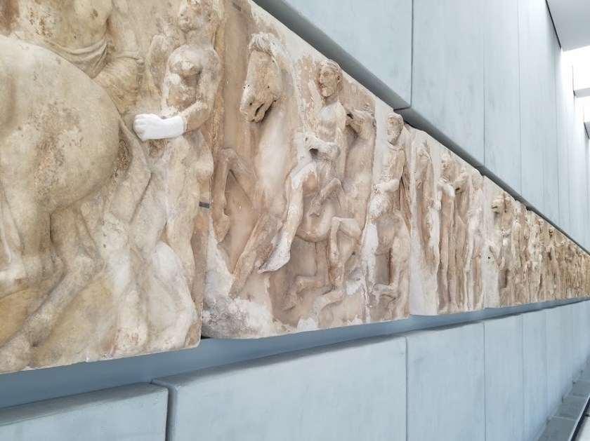 Parthenon Frieze at the Acropolis Museum in Athens