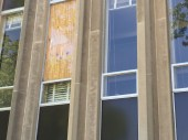 Windows in Coleman Hall can't be replaced due to the maintenance cuts in the summer.