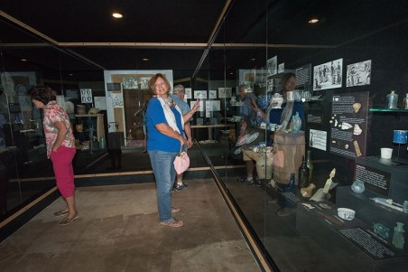 Visitors in the newly-completed American Frontier exhibition.
