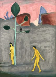 """Adam and Eve,"" Manierre Dawson, 1908, Oil on canvas, 30"" x 21.5"", Collection of Illinois State Museum"