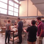 The IIT woodshop is housed in a structure designed by Mies van der Rohe.