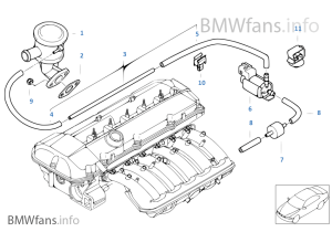 Air pump f vacuum control | BMW 3' E46 325i M56 USA