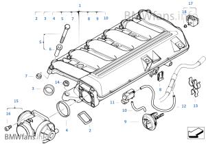 SauganlageAGR — Unterdruck gesteuert | BMW X3 E83 X3 30d