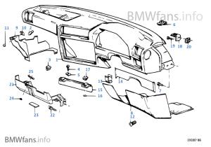 Trim panel dashboard | BMW 3' E30 316i M40 South Africa