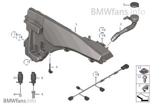 Réservoir laveglacelavephares | BMW X5 E70 X5 30d M57N2 l'Europe