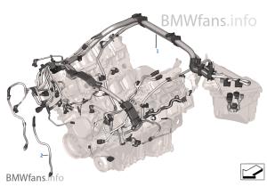 Engine wiring harness, engine module | BMW X6 E71 X6 50iX