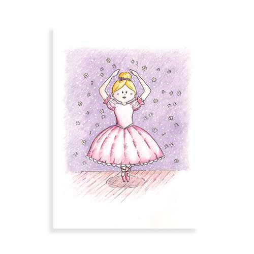 "Voorkant ansichtkaart ""Ballerina"""