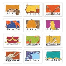 Setje van 12 ansichtkaarten: Sterrenbeelden