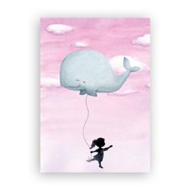 Meisje met walvisballon