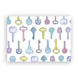 Afbeelding wenskaart sleutels