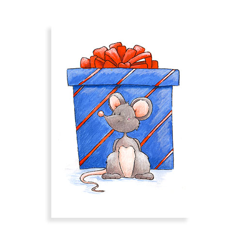 Muisje met cadeautje