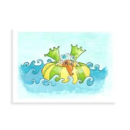 Afbeelding van ansichtkaart zomer zwemband