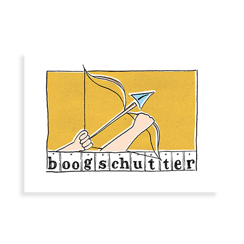 """Voorkant kaart """"Boogschutter"""""""