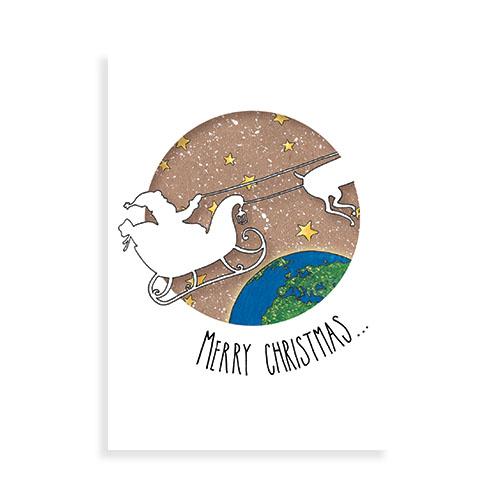 """Voorkant kaart """"Merry christmas (kerst1)"""""""