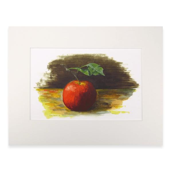 Afbeelding print appel met passe-partout
