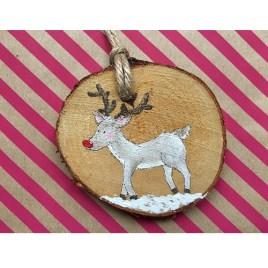 Beschilderde kersthanger: Rudolph
