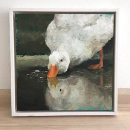 Foto schilderij eend