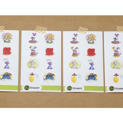 Stickervel: diverse illustraties
