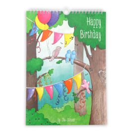 Voorkant van de verjaardagskalender