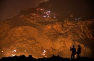 In India, an underground fire has burned continuously for 100 years