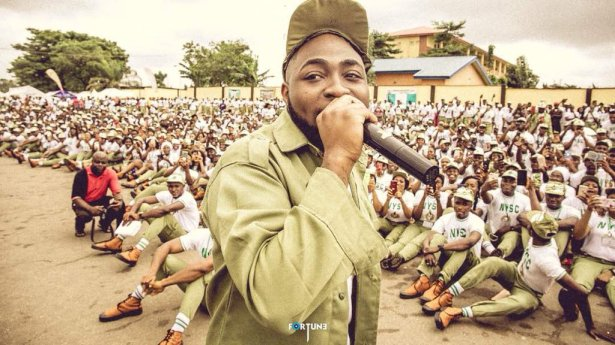 VIDEO: Wild jubilation as Davido storms NYSC camp in Lagos