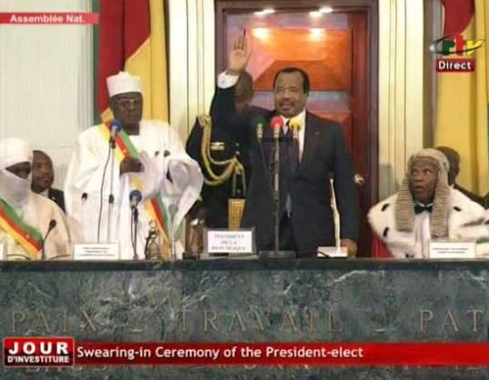 85-year old Paul Biya sworn in as Cameroon's President for a seventh term