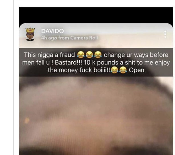 Davido calls out man who allegedly scammed him of £10,000